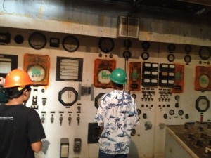 Old decommissioned control room from 1950
