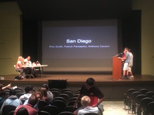 Presenting on water quality issues in San Diego